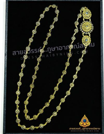 """""""เครื่องประดับชุดไทยทองเหลืองประดับเพชรซีก""""  สอบถามได้ที่เว็บไซต์นี้ หรือที่ Line ID @dressthaibyning , Tel : 0915499296 ได้เลยนะคะ"""